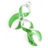 Pendant Cancer Curved Ribbon 23mm Transparent Lime